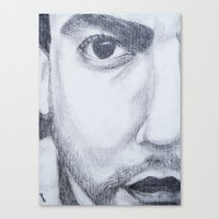 dave matthews Canvas Prints featuring Dave Matthews drawing by shelbmcintyre