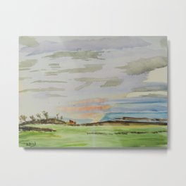 Landscape clouds Metal Print