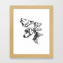 Moony Wormtail Padfoot Prongs Framed Art Print