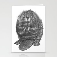 beaver Stationery Cards featuring Beaver by Nasir Nadzir