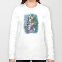 princess peach Long Sleeve T-shirts featuring Princess Peach by Karen Hallion Illustrations