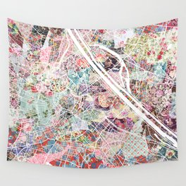 Vienna map Wall Tapestry