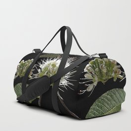White Floral Watercolor Duffle Bag