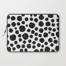 Abstract pattern 4 - Dalmatian - Black Dots Laptop Sleeve