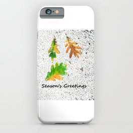 Season's Greetings holiday card iPhone Case