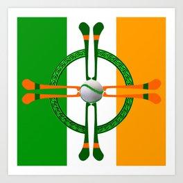 Hurley and Ball Celtic Cross Design Art Print