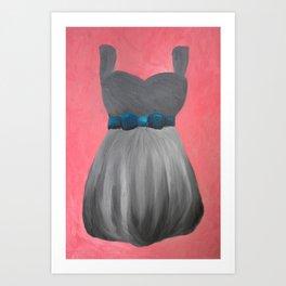 Silver Dress, Oil Painting Print Art Print