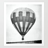 hot air balloon Art Prints featuring Hot Air Balloon by Rose Etiennette