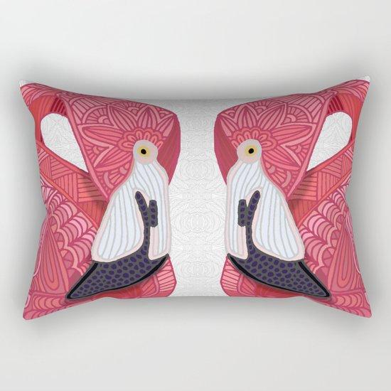 Pink Flamingos 2016 (white) Rectangular Pillow