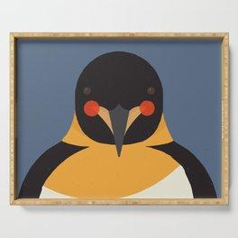 Emperor Penguin, Animal Portrait Serving Tray