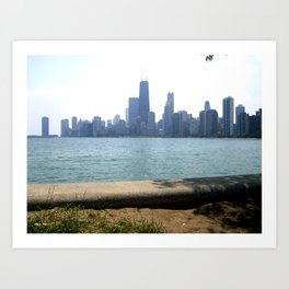 Chicago Across From Lake Michigan Shores Art Print
