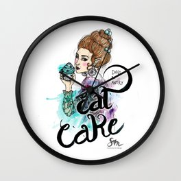 Don't be angry - eat cake Wall Clock