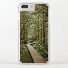 Temperate Rainforest Trail Clear iPhone Case