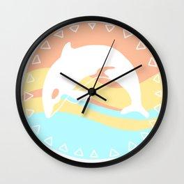 Orca window Wall Clock