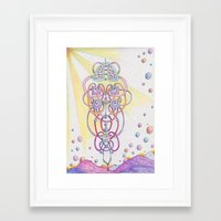lungs Framed Art Prints featuring Lungs by Art by Ellen