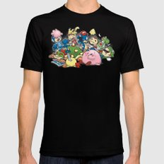 Smash Brawl Black Mens Fitted Tee SMALL