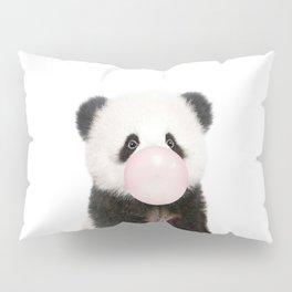 Bubble Gum Panda Bear Pillow Sham