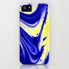 Swirls Of Blue and Yellow iPhone Case