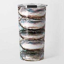 Glowing Iridescent Metallic Snake Skin Travel Mug