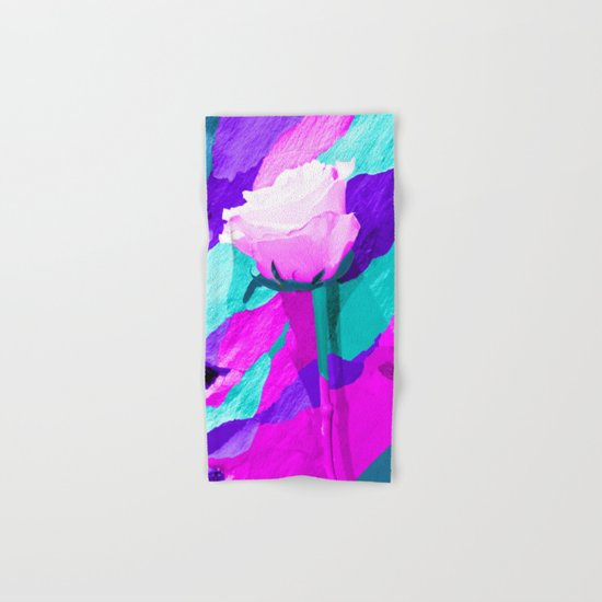 Painted Rose Hand & Bath Towel