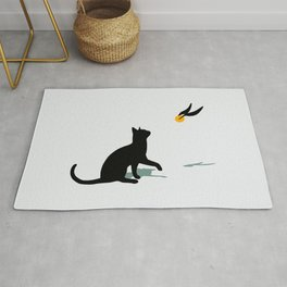 Cat and Snitch Rug