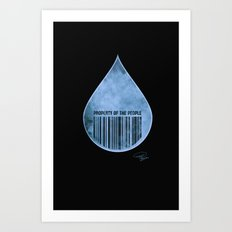 Water : Property of the People 2 Art Print