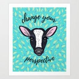 Change Your Perspective White Blaze Art Print