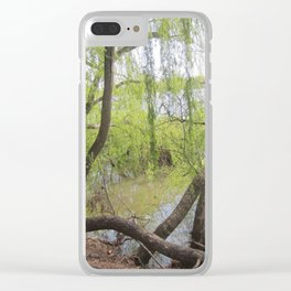 Through the willow branches Clear iPhone Case