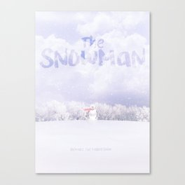 'The Snowman' film poster Canvas Print