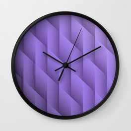 Gradient Purple Diamonds Geometric Shapes Wall Clock