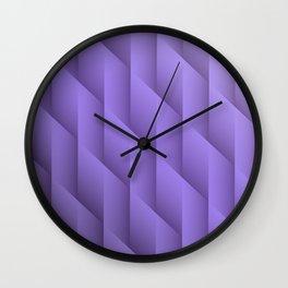 Gradient Purple Diamonds Geometric Shapes Wall Clock