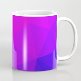 Magenta and Violet Low Poly Pattern Coffee Mug