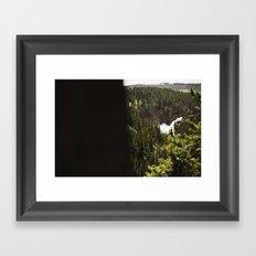 yellowstone falls . ii Framed Art Print