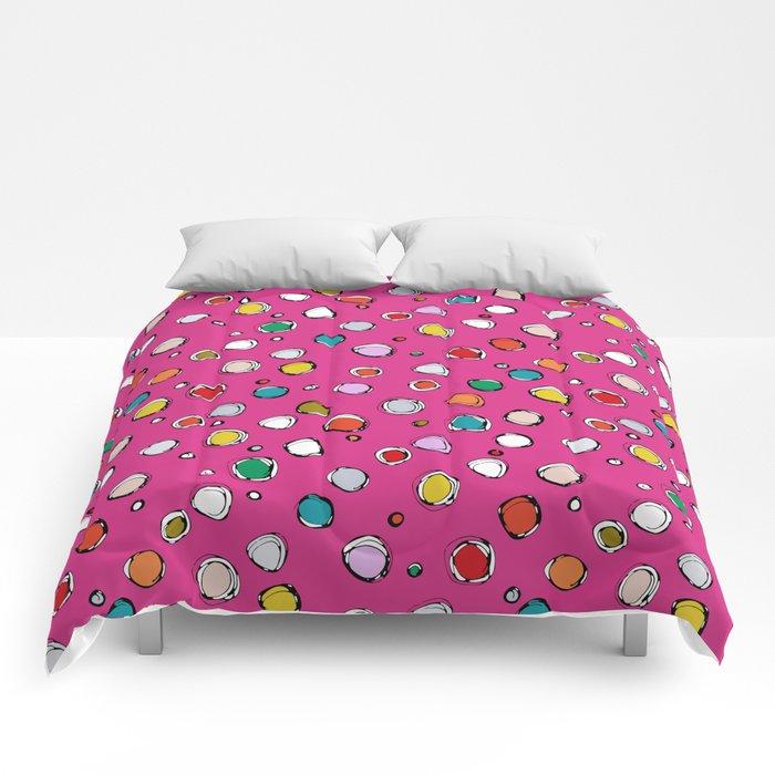 wilderdot cerise Comforters