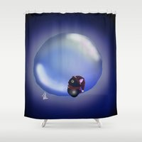 bubble Shower Curtains featuring Bubble by quackso