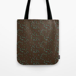 Brown Turquoise Shambolic Bubbles Tote Bag