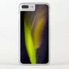 Abstract Bristle Grass-Fleur Blur Series Clear iPhone Case