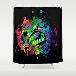 PAINT SPLAT ZOMBIE Shower Curtain