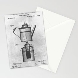 Coffee percolator Stationery Cards
