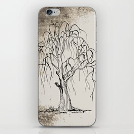Set Of Halloween Tree minimal dead scary tree silhouette spooky tree illustration creepy tree sketch iPhone Skin