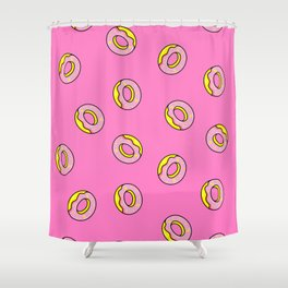 Donuts Pink Shower Curtain