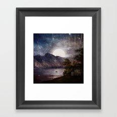 Love under A Wishing Star Sky Framed Art Print