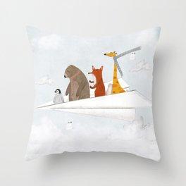 plane sailing Throw Pillow