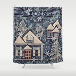 Christmas , Countryside Shower Curtain