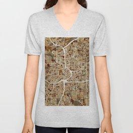 Atlanta Georgia City Map Unisex V-Neck
