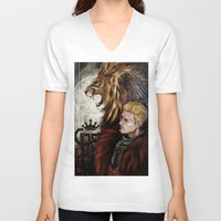 "dragon age inquisition V-neck T-shirts featuring Dragon Age Inquisition - Cullen - Fortitude by Barbara ""Yuhime"" Wyrowińska"