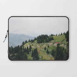 Photo of the railway station Schynige Platte, Suisse   Colorful travel photography   Laptop Sleeve