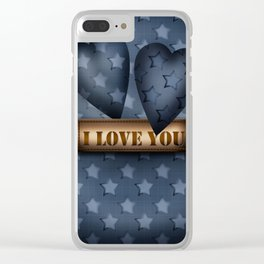 I love you . Poster Clear iPhone Case
