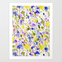 Wild Nature (Yellow and Blue) Art Print