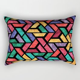 Seamless Colorful Geometric Pattern IX Rectangular Pillow
